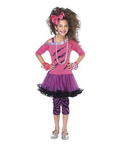 80s rock star costume girls purple pink 80s rock star dress up set girls rocks