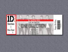 Concert Tickets Custom Concert Ticket Gift Certificate One By