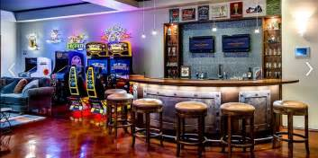 awesome arcade room with bar is the room you d never