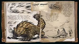 Ark Blueprint List dino dossier thorny dragon scorched earth ark