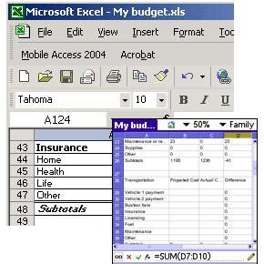 Spreadsheet Mobile by Mobile Spreadsheet 2004 Palm Os
