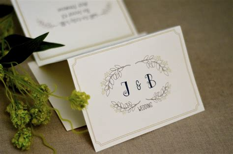 wedding stationery tn floral leaf with monogram trifold wedding invitation with rsvp and envelope mint