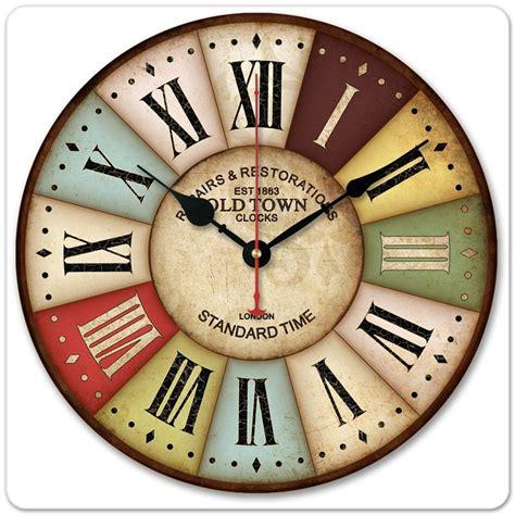 art wall clock 12 30cm vintage london old time clock roman numbers wood