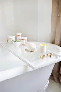 bathtub caddie lucite bathtub caddy diy a beautiful mess