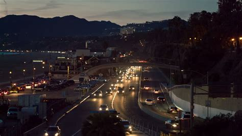 Traffic On Pch - santa monica night time lapse of pch pacific coast highway with ocean pier and