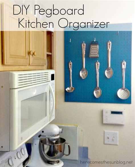 Paint Ideas Kitchen Diy Pegboard Kitchen Organizer Here Comes The Sun