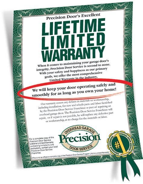 garage door repair warranty by precision garage door of little rock