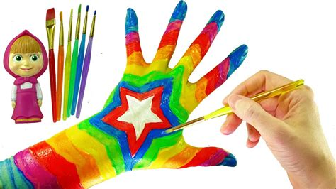 color finger learn colors with color paint top rainbow