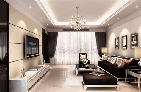room decor with lights interior decoration living room rendering with tv wall sofa and light interior design