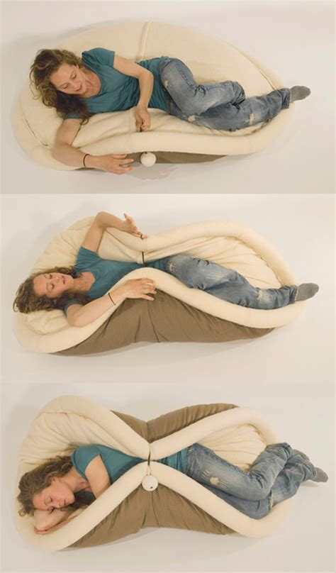 taco bed soft chair you can use to fold yourself up into a taco