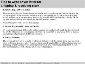 Receiving Clerk by Shipping Receiving Clerk Cover Letter