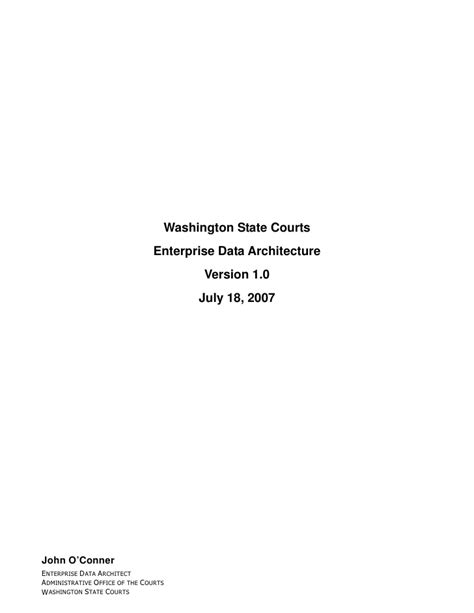 Washington State Courts Search Name Washington State Courts Enterprise Data Architecture Version