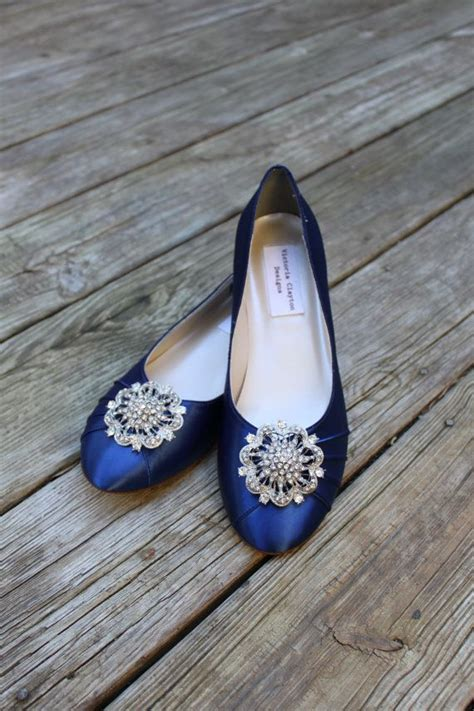 navy blue flat wedding shoes navy blue wedding flats www pixshark images