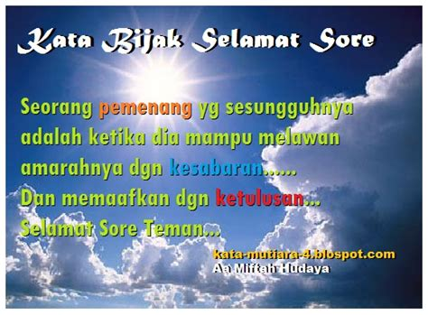 ucapan selamat sore  siang islami kata