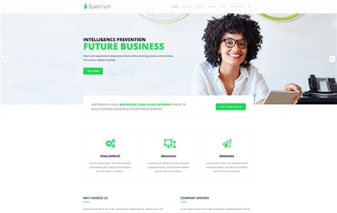 themeforest corporate template themeforest spectrum premium responsive
