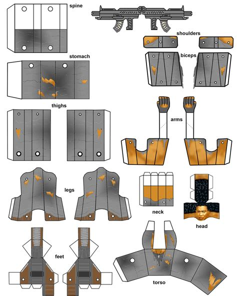 Robot Papercraft - best photos of paper robot template papercraft templates