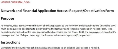 site to site vpn request form template network access form accounting template