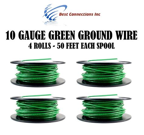 4 rolls of 10 50 green ground wire solid copper