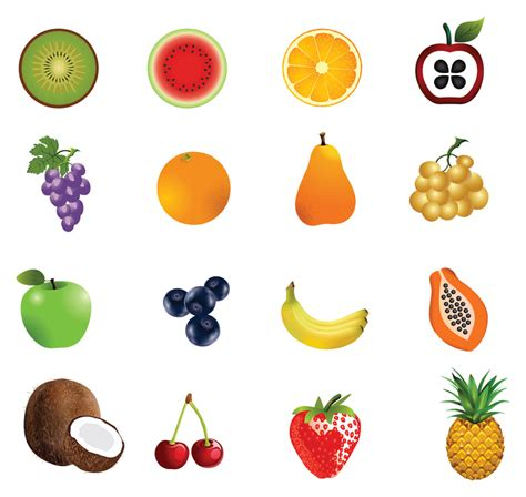 fruit usernames fruit icon set free vector