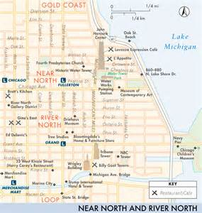 River North Map Chicago by Map Of Near North And River North Near North And River