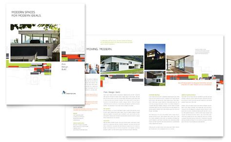 architecture portfolio templates architectural design brochure template design
