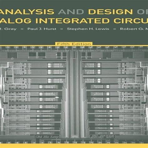 analysis and design of analog integrated circuits fifth edition کتاب analysis and design of analog integrated circuits سایت جامع آموزشکده