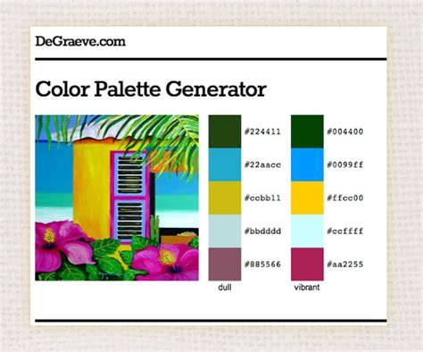 inspiru coocoo generate your own color palette