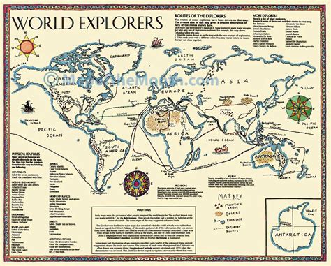 Printable Map New World Explorers | world explorers map maps for the classroom