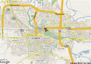 map of eugene oregon map of la quinta inn eugene eugene