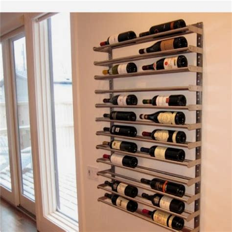 Garage Wine Storage by Towel Bar Wine Rack Home
