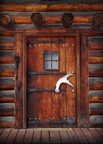 Log Home Exterior Doors Big Sky Lodge Style Door Handles The Doors And Alaskan Cabins