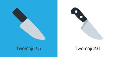 knife emoji twemoji 2 6 emoji changelog