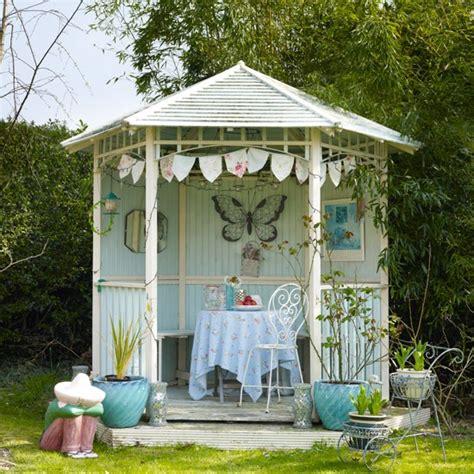themes for summer house vintage style garden gazebo summer decorating ideas