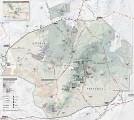 mojave desert california map map of mojave desert mojave national preserve map