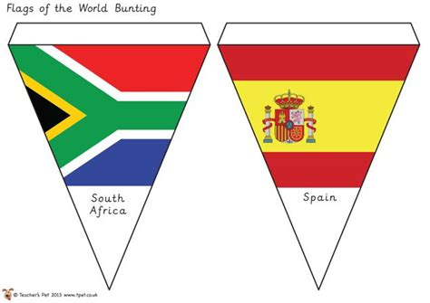 flags of the world ks2 teacher s pet free classroom display resources for early