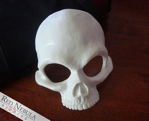 How To Make A Skull Mask Out Of Paper - human skull half mask blank resin skeleton mask