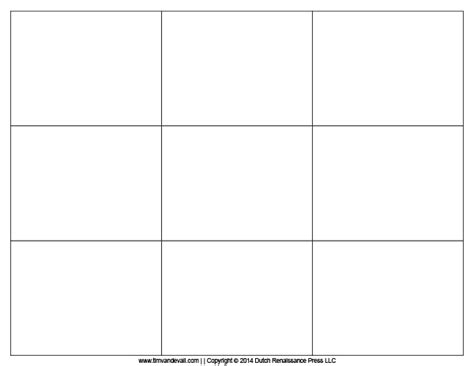 Card Blank Template by Tim De Vall Comics Printables For