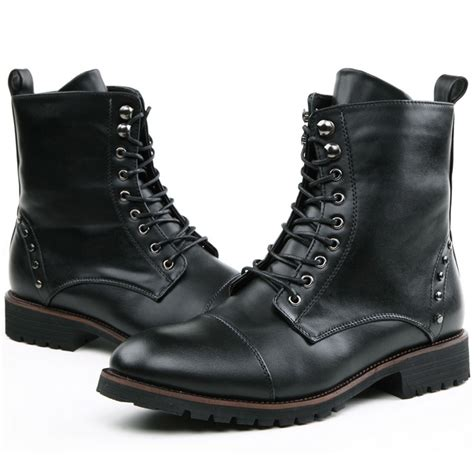 stylish mens leather boots cool stylish quality leather motorcycle ankle oxfords