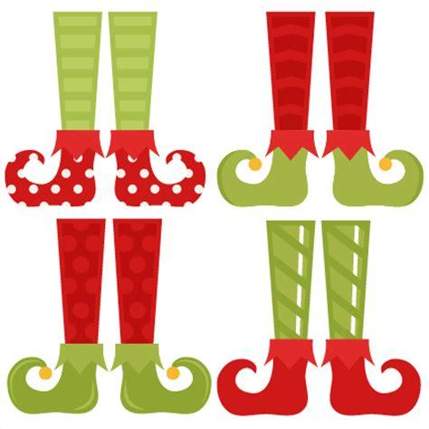 printable elf legs elf shoe set svg cutting files christmas svg cuts free