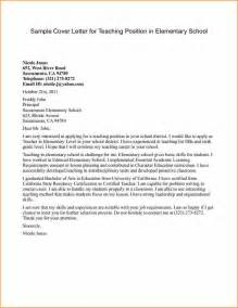 Cover Letter For Teaching In School by 12 How To Write Cover Letter For Teaching Basic
