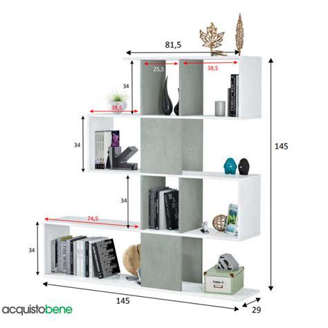 mobile libreria moderno mobile libreria decorativa bicolore a 4 ripiani dal design