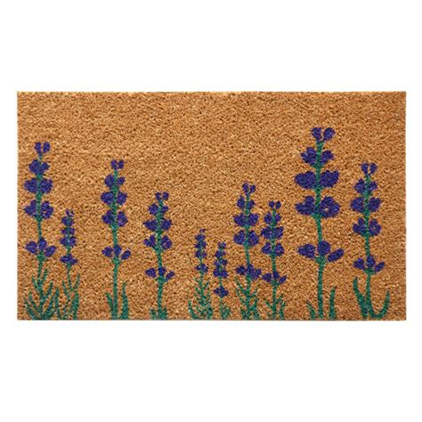 Flower Doormat - quot purple lavender quot a flower doormat