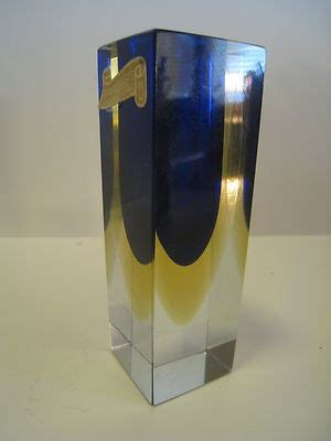 made in italy murano cobalt blue yellow glass bud