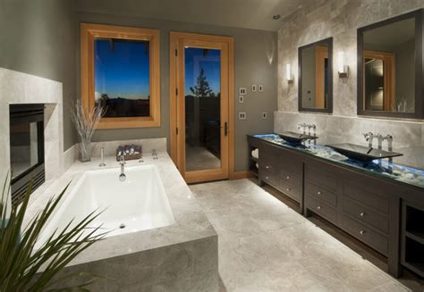 contemporary master bathroom with dark wood vanities a 36 master bathrooms with double sink vanities pictures