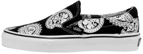 Vans Skulls And Paisley by Vans Slip Ons Paisley Skull Sneakerfiles