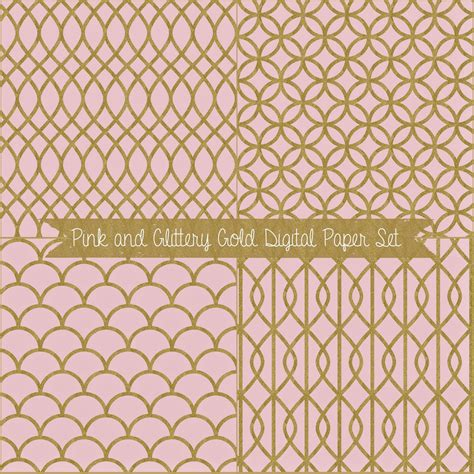 gold patterned digital paper just peachy designs free digital papers pink and gold