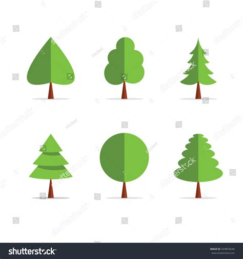 Origami Tree Vector Template Icons Green Stock Vector 329876540 Shutterstock Paper Tree Template