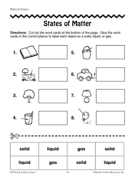 what is matter worksheet states of matter education world
