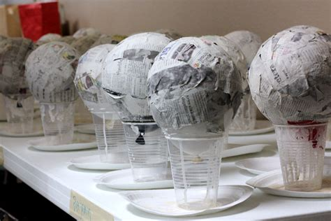 How To Make Paper Mache Decorations - paper mache light up globes inspiring bridal shower ideas