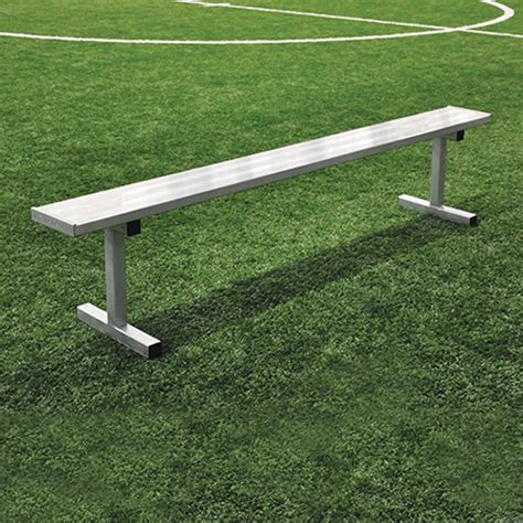 players bench locations 15 player bench w o seat back permanent natural finish